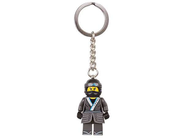 Show off your loyalty to the ninja with THE LEGO® NINJAGO® MOVIE™ Nya keyring, featuring a minifigure with sturdy metal ring and chain.