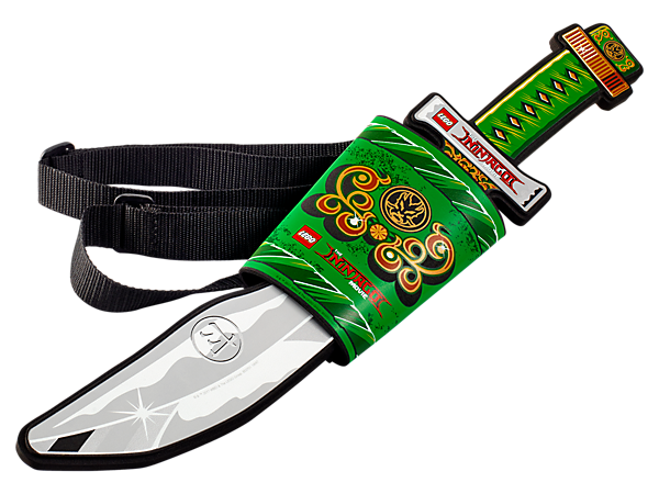 Role-play thrilling ninja battles with THE LEGO® NINJAGO® MOVIE™ soft-foam sword and back-mounted sheath with adjustable straps.