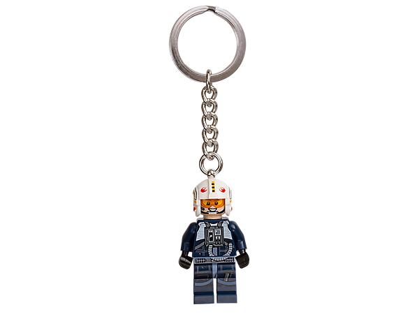 Launch into everyday adventures with this LEGO® Star Wars Y-Wing Pilot, featuring a minifigure with detailed helmet attached to a sturdy metal keyring.