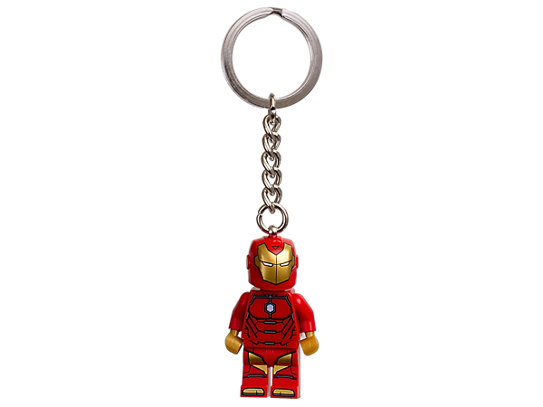 Fly like a super hero legend with this LEGO® Marvel Super Heroes Invincible Iron Man keyring, featuring a minifigure with sturdy metal ring and chain.