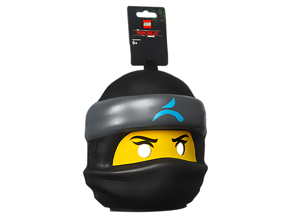 Dress up as your favorite character from THE LEGO® NINJAGO® MOVIE™ with this LEGO minifigure-head-style Nya Mask in compression-molded soft foam with safety snap closure.
