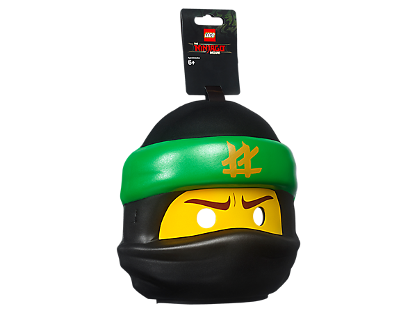 Role-play as your favorite character from THE LEGO® NINJAGO® MOVIE™ with this LEGO minifigure-head-style Lloyd Mask in compression-molded soft foam with safety snap closure.