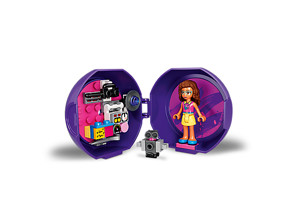 Invent your own LEGO® Friends adventures on the go with Olivia's Satellite Pod, featuring an Olivia mini-doll figure and Zobo the robot, plus buildable satellite equipment.
