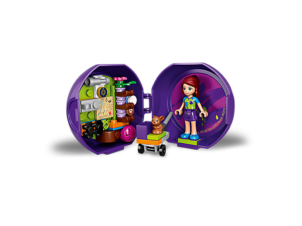 Enjoy LEGO® Friends adventures on the go with Mia's Exploration Pod, featuring a Mia mini-doll figure and pet bunny figure, plus buildable nature exploration equipment.