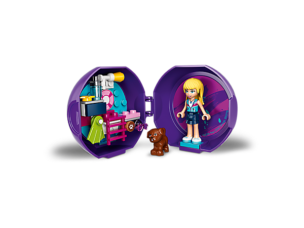 Enjoy aquatic LEGO® Friends fun on the go with Stephanie's Pool Pod, featuring a Stephanie mini-doll figure and pet dog figure, plus buildable pool/swimming equipment.