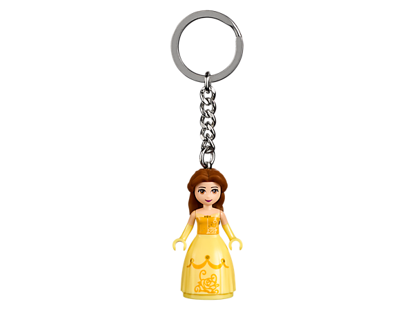 Set out on enchanting adventures with this LEGO® l Disney Belle Keyring, featuring a mini-doll figure with sturdy metal ring and chain.