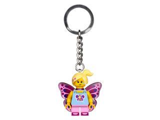 Butterfly Girl Keyring