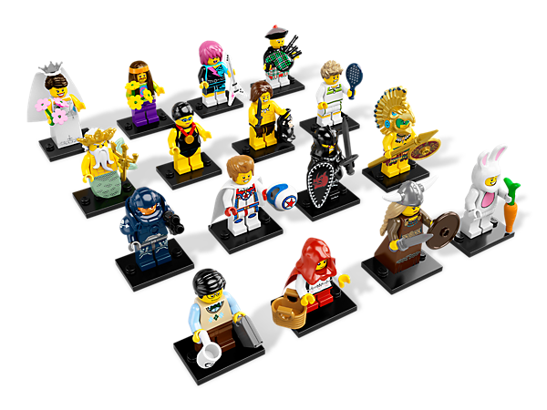 Get your hands on the exciting Series 7 minifigures mystery bags featuring 16 all-new characters and accessories to trade and collect!