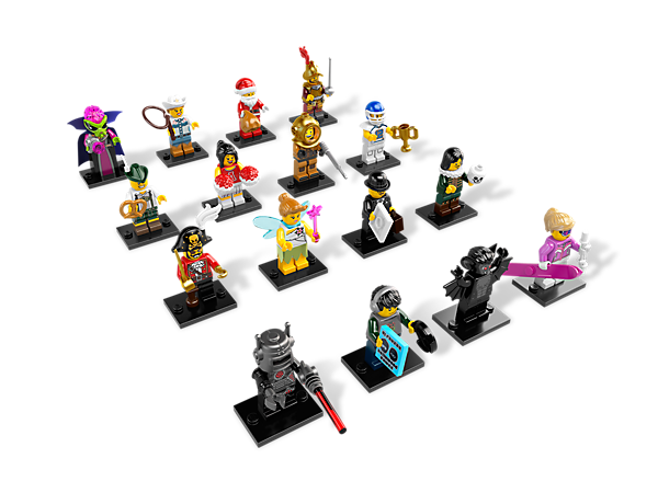 Get your hands on the exciting Series 8 minifigure mystery bags featuring 16 all-new characters and accessories to trade and collect!