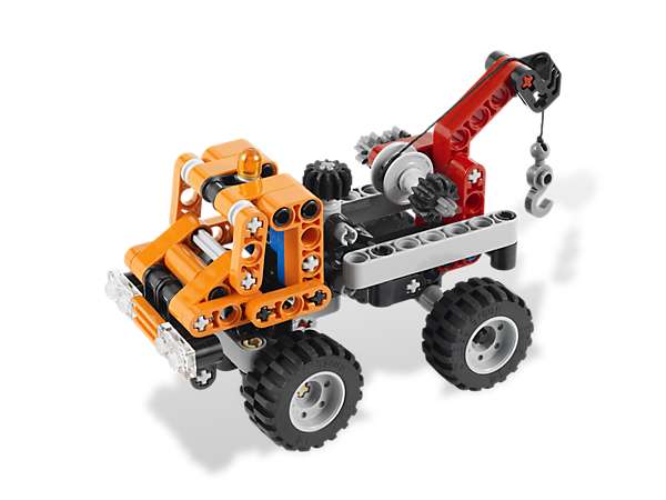 Rush to the job with the 2-in-1 Mini Tow Truck to hook and haul all kinds of vehicles with a functioning tow hook and realistic steering!