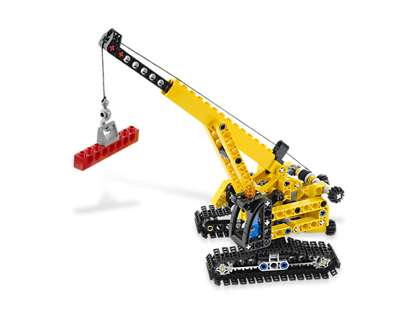 Move the Tracked Crane into the toughest-to-reach job sites and get to work with the moving superstructure, boom, arm and lowering hook!