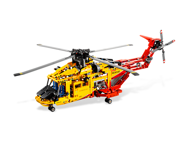 Start exploring the skies with 2 cool helicopter models featuring spinning rotors, retractable landing gear and an opening rear cargo ramp!