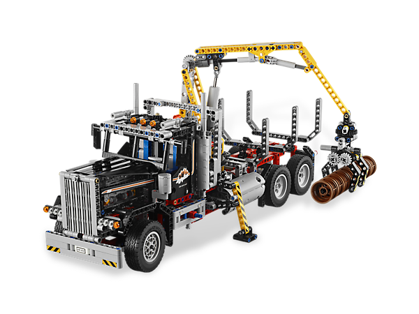 Make room for the massive 2-in-1 model that takes LEGO® logging to the next level with LEGO Power Functions and rebuilds into a plow truck!