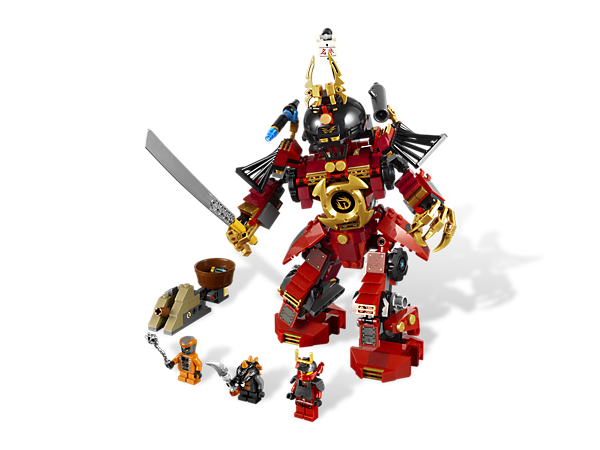 Stand up against the Constrictai snakes and fight for the fang blade with the mighty Samurai Mech's blades, cannon shooter and giant grabbers!