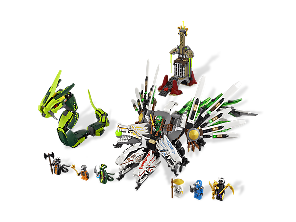 <p>Defeat the Great Devourer in the epic battle against the evil snake empire with 7 minifigures, the 4-headed Ultra Dragon and all 4 golden weapons!</p>
