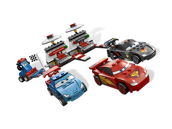 Speed and slam your way to the World Grand Prix finish line with the Disney® Pixar® Cars™ Ultimate Race Set and 4 quick characters!