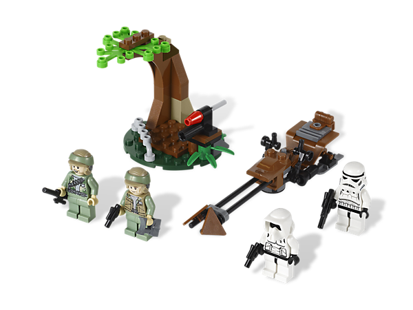 <p>Defend Endor against the Imperial forces in the Rebel hideout and recreate an epic <i>Star Wars</i>™ battle with a vehicle and 4 minifigures!</p>