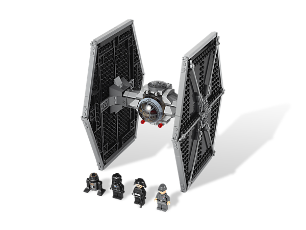 Take the Imperial fleet on an intergalactic hunt for Rebels in the TIE Fighter armed with dual flick missiles and 4 minifigures!