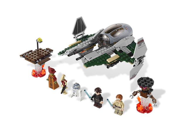Turn Anakin Skywalker to the dark side and recreate the epic Anakin versus Obi-Wan battle on the lava river with Anakin's Jedi Interceptor™!