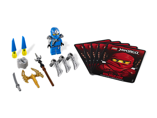 Customize and spin your way to victory with Jay ZX's 3 weapons, 4 battle cards, LEGO® lift brick, shields and blades!