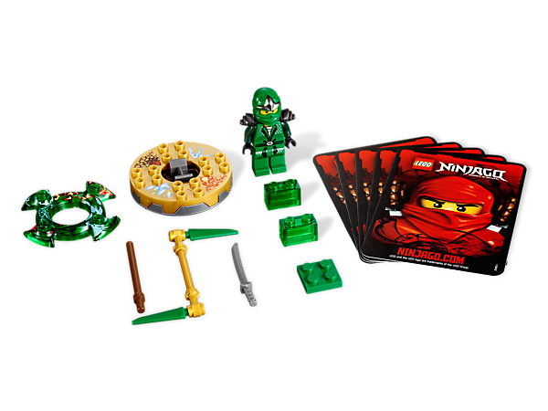 Spin to victory against those slithery snakes with 4 battle cards and Lloyd ZX, armed with the gold spinner, green crown and a golden weapon!