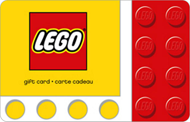 Give gift card lego shop for Gift with purchase ideas